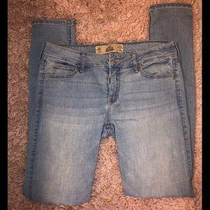 Hollister super skinny light wash jeans